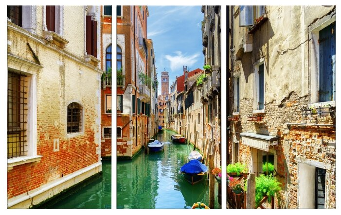Модульная картина Картиномания Каналы и старинные дома Венеции