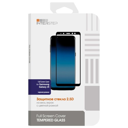 Защитное стекло INTERSTEP Full Screen Cover для Samsung Galaxy J4 черный защитное стекло interstep для galaxy s7 black is tg samgs7fsb 000b201