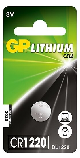 Элемент питания CR-1220 (1 шт) GP GPCR1220-BC5