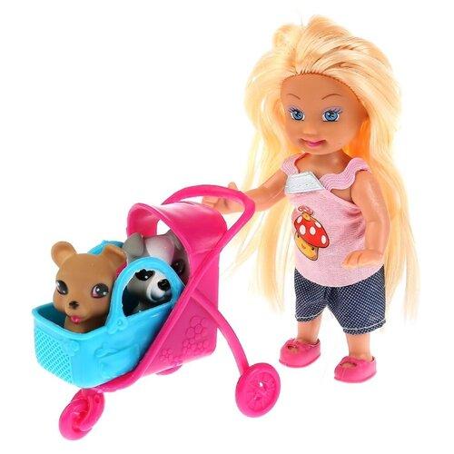 Фото - Кукла Карапуз Машенька с набором для пикника и питомцами, 12 см, MARY020X-RU кукла манекен карапуз с набором косметики и аксесс д волос в ассорт в русс кор в кop 24шт