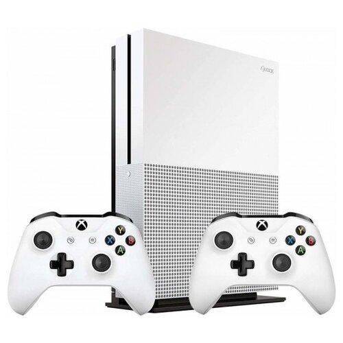Купить Игровая приставка Microsoft Xbox One S 1 ТБ с двумя геймпадами белый