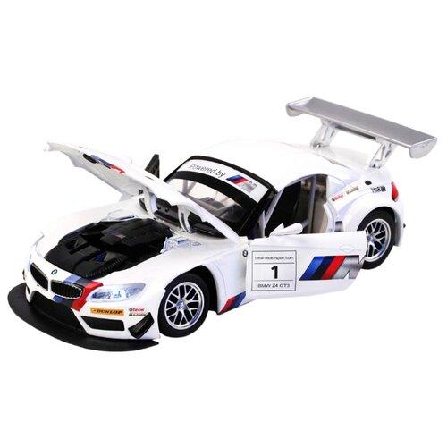 Купить Легковой автомобиль Автопанорама BMW Z4 GT3 (JB1200122/JB1200123) 1:24 18 см белый, Машинки и техника