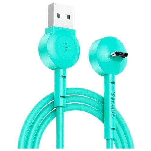 Кабель Baseus Maruko Video USB - USB Type-C (CATQX-01) 1 м бирюзовый  - купить со скидкой