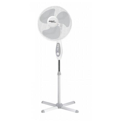 Напольный вентилятор Scarlett SC-SF111B18 белый напольный вентилятор rix rsf 4002 белый