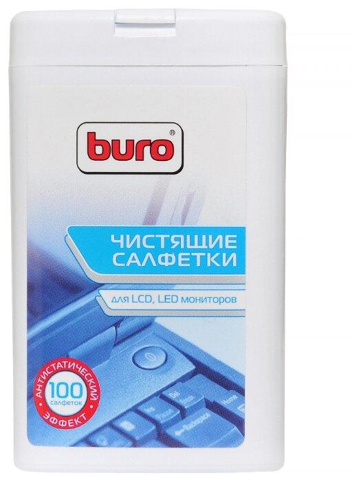 Туба Buro BU-tft с чистящими салфетками , для LCD, TFT-мониторов, 100 шт