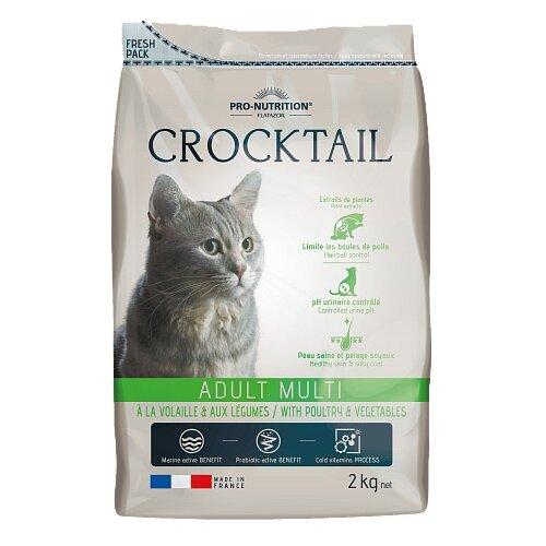 Сухой корм для кошек Flatazor (2 кг) Crocktail Adult Multi With Poultry And Vegetables 2 кг