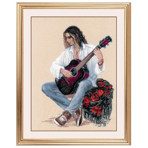 Купить Риолис Набор для вышивания крестом Гитарист 30 х 40 (1766), Наборы для вышивания