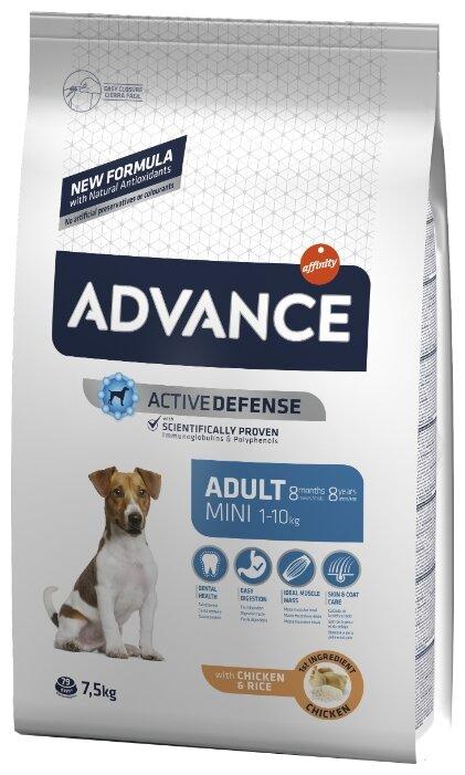 Корм для собак Advance Mini Adult курица и рис