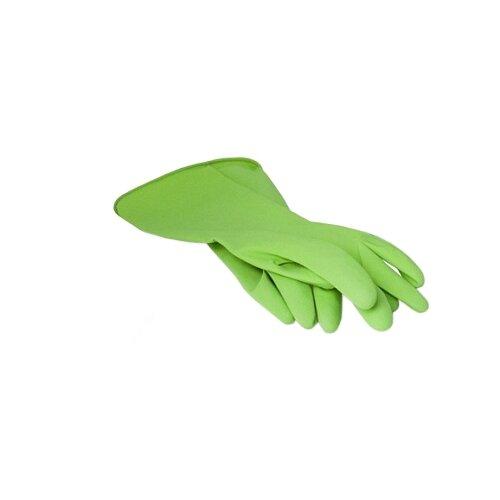 Перчатки Paterra хозяйственные Extra Комфорт, 1 пара, размер S, цвет зеленый