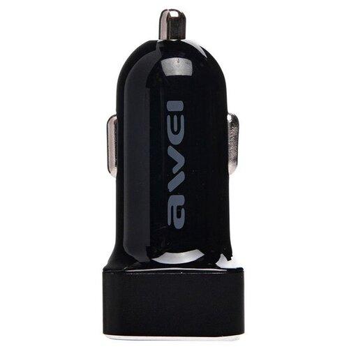 Автомобильная зарядка Awei C-200 черный