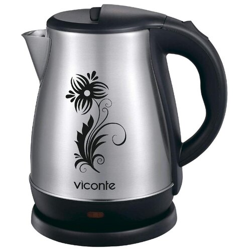 Чайник Viconte VC-3251, черный/серебристый чайник viconte vc 3275