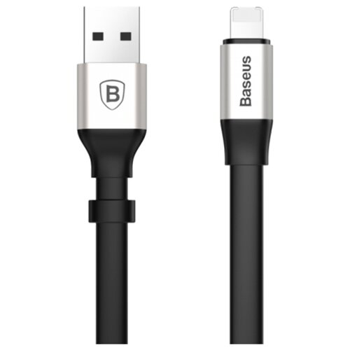 Купить Кабель Baseus 2in1 Portable USB - Lightning/microUSB (CALMBJ) 0.23 м черный/серебристый