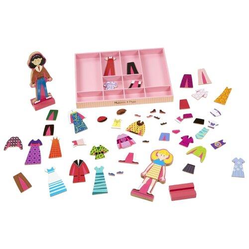 Купить Игровой набор Melissa & Doug Abby & Emma Magnetic Dress-Up Set 4940, Игровые наборы и фигурки