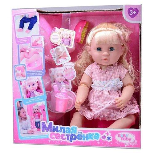 Фото - Интерактивный пупс Baby Toby Милая сестренка, JB700205 интерактивный пупс baby doll