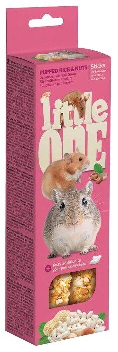 Лакомство для грызунов Little One Sticks Puffed rice & Nuts