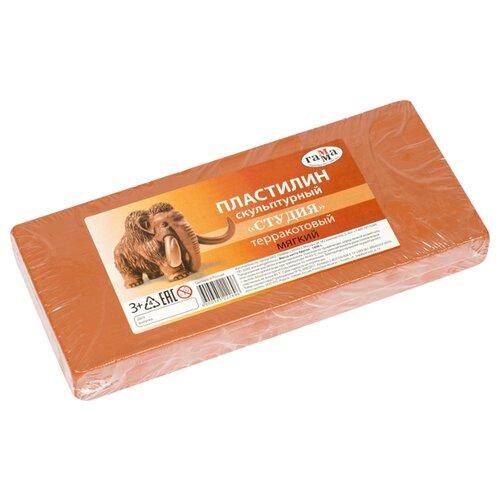 Купить Пластилин ГАММА Студия мягкий терракотовый 1000 г (2.80.Е100.004.3), Пластилин и масса для лепки