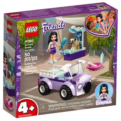 Конструктор LEGO Friends 41360 Передвижная ветклиника Эммы конструктор friends lego lego mp002xg00jt9