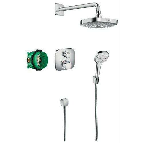 Верхний душ встраиваемый hansgrohe Croma Select E / Ecostat E 27294000 хром hansgrohe ecostat e 15700000