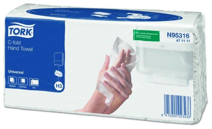 Полотенце бумажное для диспенсера TORK 120 шт. Universal 24х27.5 белые 471111