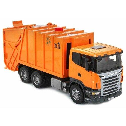 Купить Мусоровоз Bruder Scania (03-560) 1:16 62 см оранжевый, Машинки и техника