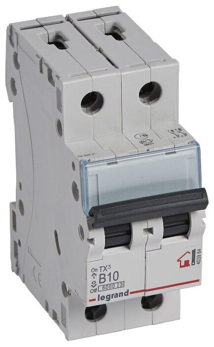 Автоматический выключатель Legrand TX3 2P (B) 6kA