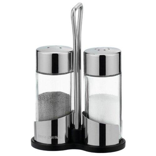 Tescoma Набор емкостей для соли и перца на подставке Club прозрачный/стальной vigar набор емкостей для соли и