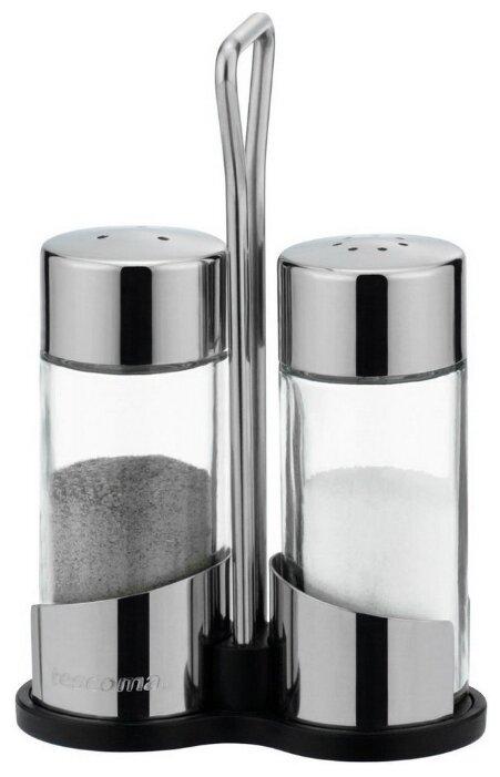 Купить Tescoma Набор емкостей для соли и перца на подставке Club прозрачный/стальной по низкой цене с доставкой из Яндекс.Маркета (бывший Беру)