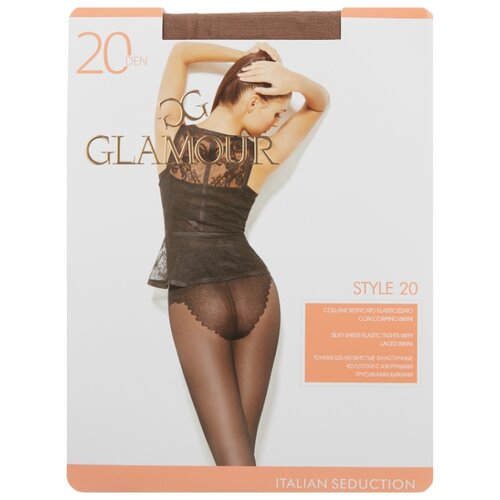 Колготки Glamour Style 20 den, размер 5-XL, daino (бежевый) колготки glamour style 5 20 den медный