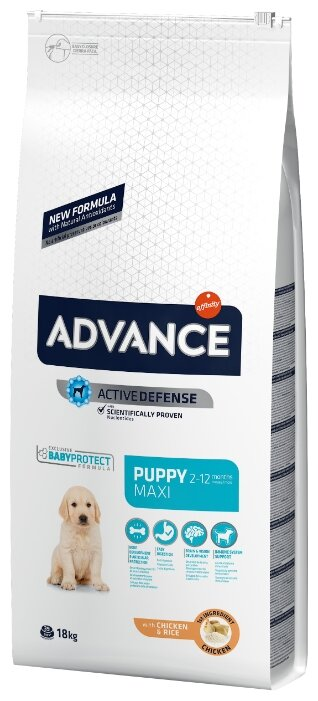 Корм для собак Advance Puppy Maxi курица и рис