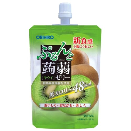 Желе Orihiro из конняку питьевое Киви 0%, 130 г