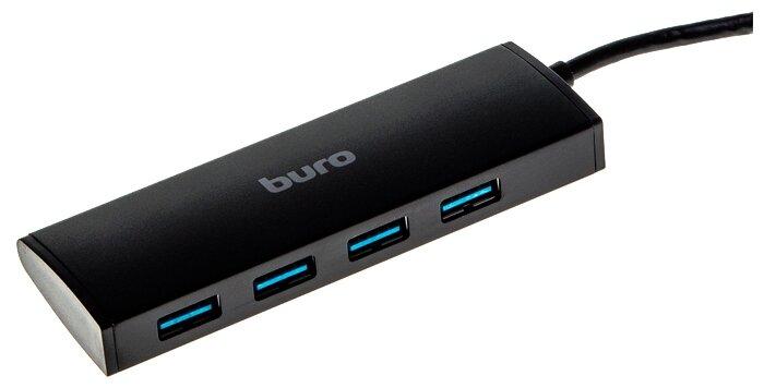 Разветвитель USB 3.0 Buro BU-HUB4-0.5-U3.0 4порт. черный BU-HUB4-0.5-U3.0