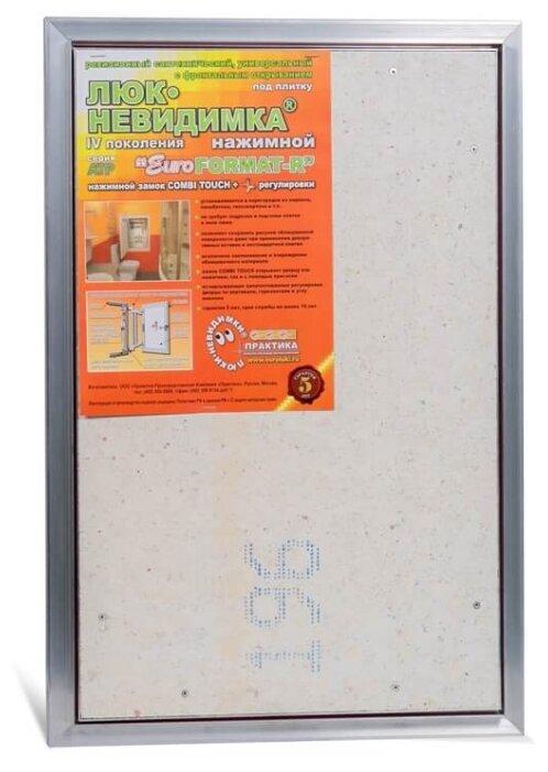 Ревизионный люк Евроформат АТР 40-60 настенный под плитку ПРАКТИКА
