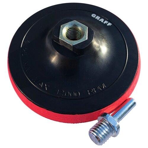 Тарелка для УШМ на липучке GRAFF GPAD 125 14 125 мм 1 шт тарелка для ушм практика 038 524 125 мм 1 шт