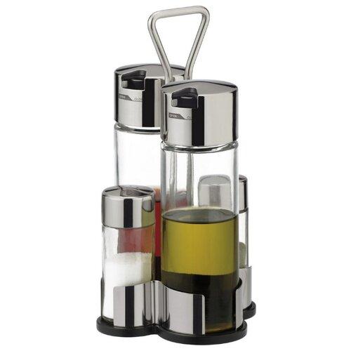 Tescoma Набор емкостей для масла, уксуса, соли и перца Club прозрачный/стальной