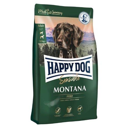 Корм для собак Happy Dog (10 кг) Supreme Sensible - Montana для собак средних и крупных пород с конинойКорма для собак<br>