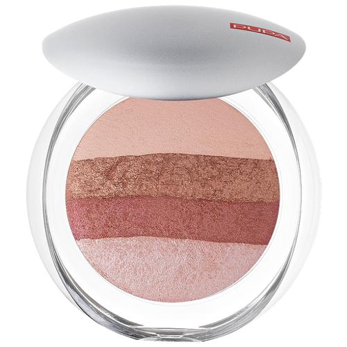 цена на Pupa Luminys Румяна-пудра-иллюминатор Baked All Over Illuminating Blush-Powder 01 stripes rose