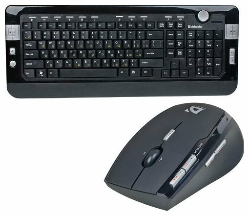 Клавиатура и мышь Defender S Bern 795 Black USB