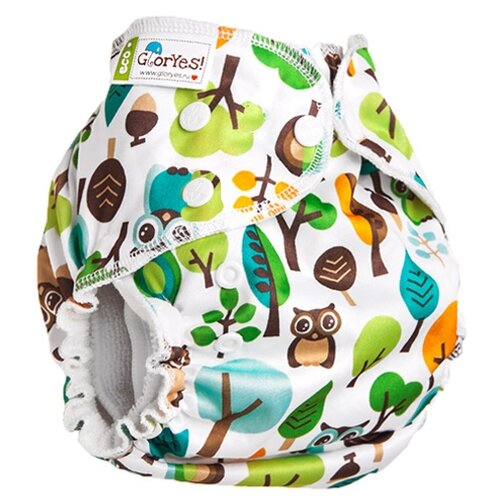 Купить GlorYes! подгузники бамбуковые для приучения к горшку NEW (3-18 кг) 1 шт. филин, Подгузники