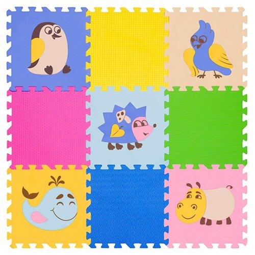 Купить Коврик-пазл Funkids Окружающий мир №6 Дикие Животные, толщ. 10 мм (KB-D20B-NT10-06), Игровые коврики