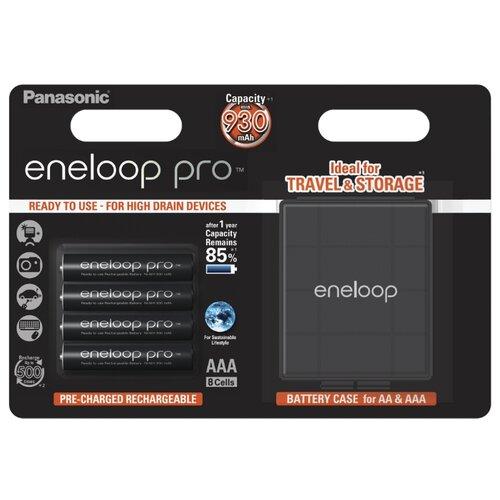 Фото - Аккумулятор Ni-Mh 930 мА·ч Panasonic eneloop pro AAA + кейс 4 шт блистер аккумулятор smartbuy sbbr 3a02bl950 aaa 2 шт