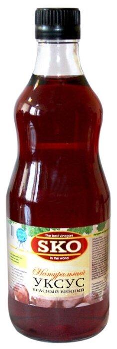 Уксус SKO натуральный красный винный, 500 мл.
