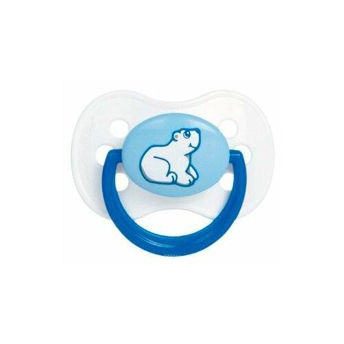 Купить Пустышка латексная классическая Canpol Babies Animals Continents 6-18 м (1 шт) белый/синий, Пустышки и аксессуары