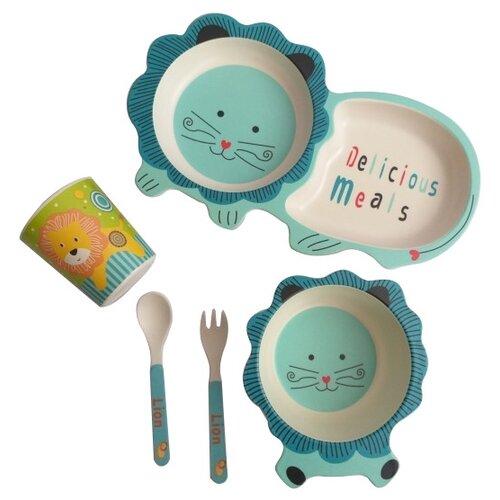 Комплект посуды Baby Ryan Котик (BF022) синий