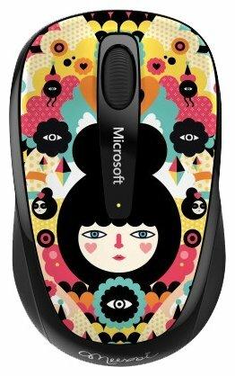 Мышь Microsoft Wireless Mobile Mouse 3500 Artist Edition Muxxi Black-Yellow USB