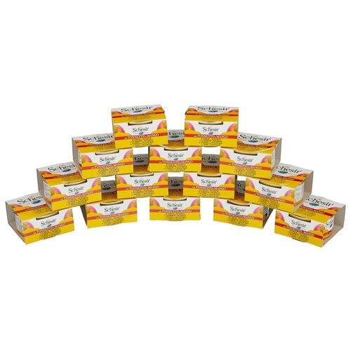 Корм для кошек Schesir с тунцом и с манго 14шт. х 75 г (кусочки в желе)Корма для кошек<br>