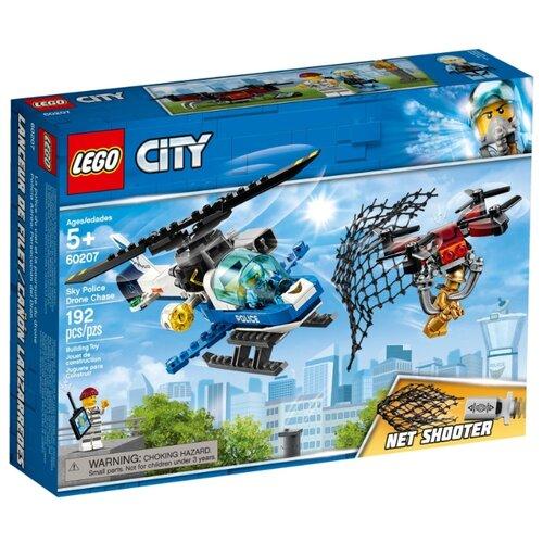 Конструктор LEGO City 60207 Воздушная полиция: погоня дронов конструктор city lego lego mp002xb00c9t
