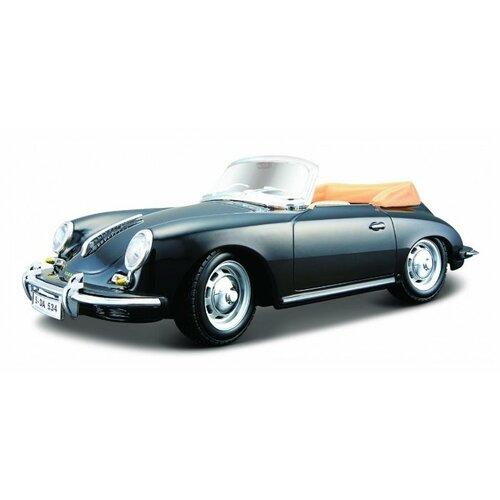 Купить Легковой автомобиль Bburago Porsche 356B Cabriolet (1961) (18-22078) 1:24 черный, Машинки и техника