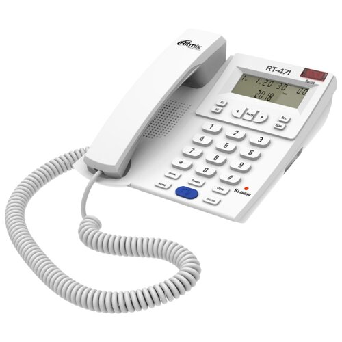 Телефон Ritmix RT-471 белый телефон
