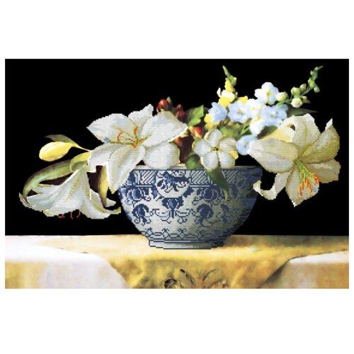 Купить Белоснежка Набор для вышивания Цветочная композиция 70 x 48 см (7062-3D), Наборы для вышивания