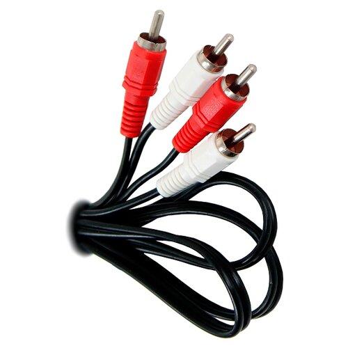 Кабель VCOM 2xRCA - 2xRCA (VAV7158) 3 м черный кабель s video vcom vav7187 3m 3 м